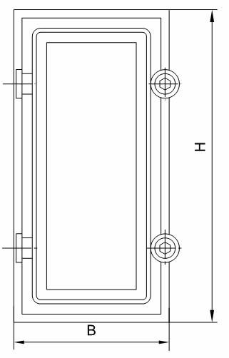Схема двери вентиляционной