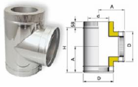 система дымоходы тройник