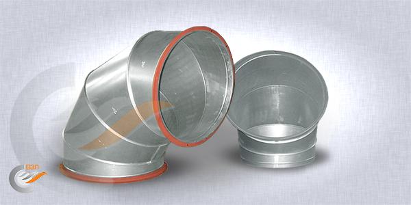 Отводы круглые вентиляционные
